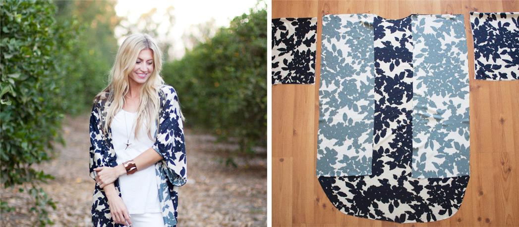 patron couture kimono femme