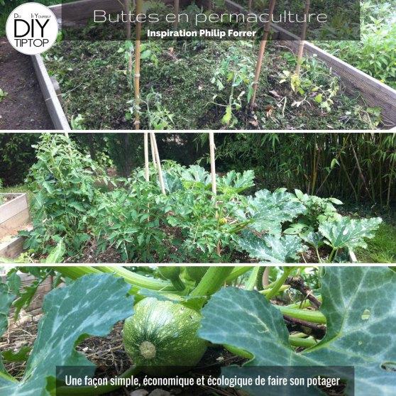 www.diy-tiptop.com Réaliser un potager sur buttes inspiration Philip Forrer. Une façon simple, économique et écologique de faire votre potager